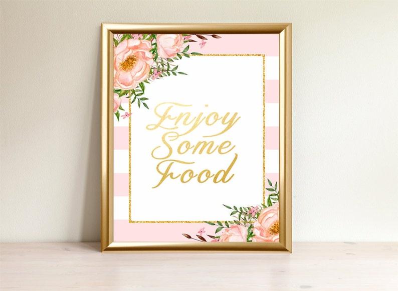 Enjoy Some Food Food Sign Baby Shower Sign Food Table Sign Etsy