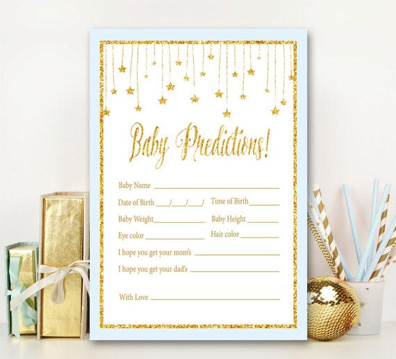 Baby Shower Games Choice of Size 25 Woodland Animals Cards Guest Prediction