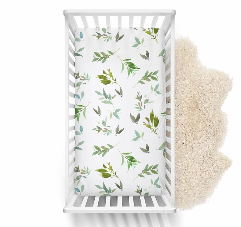 Baby Shower Gift Gender Neutral Baby Changing Pad Cover Greenery Changing Pad Cover Baby Changing Table Cover