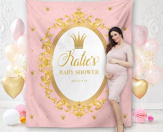 1 Royal Princess Baby Shower Banner Hangable Foam Wall Decorations Baby Girl