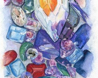 Original Watercolor - Jewels