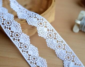 10 yard 2.5cm 0.98 wide blackivorybeige fabric embroidery tapes lace trim ribbon F10T381M190907X