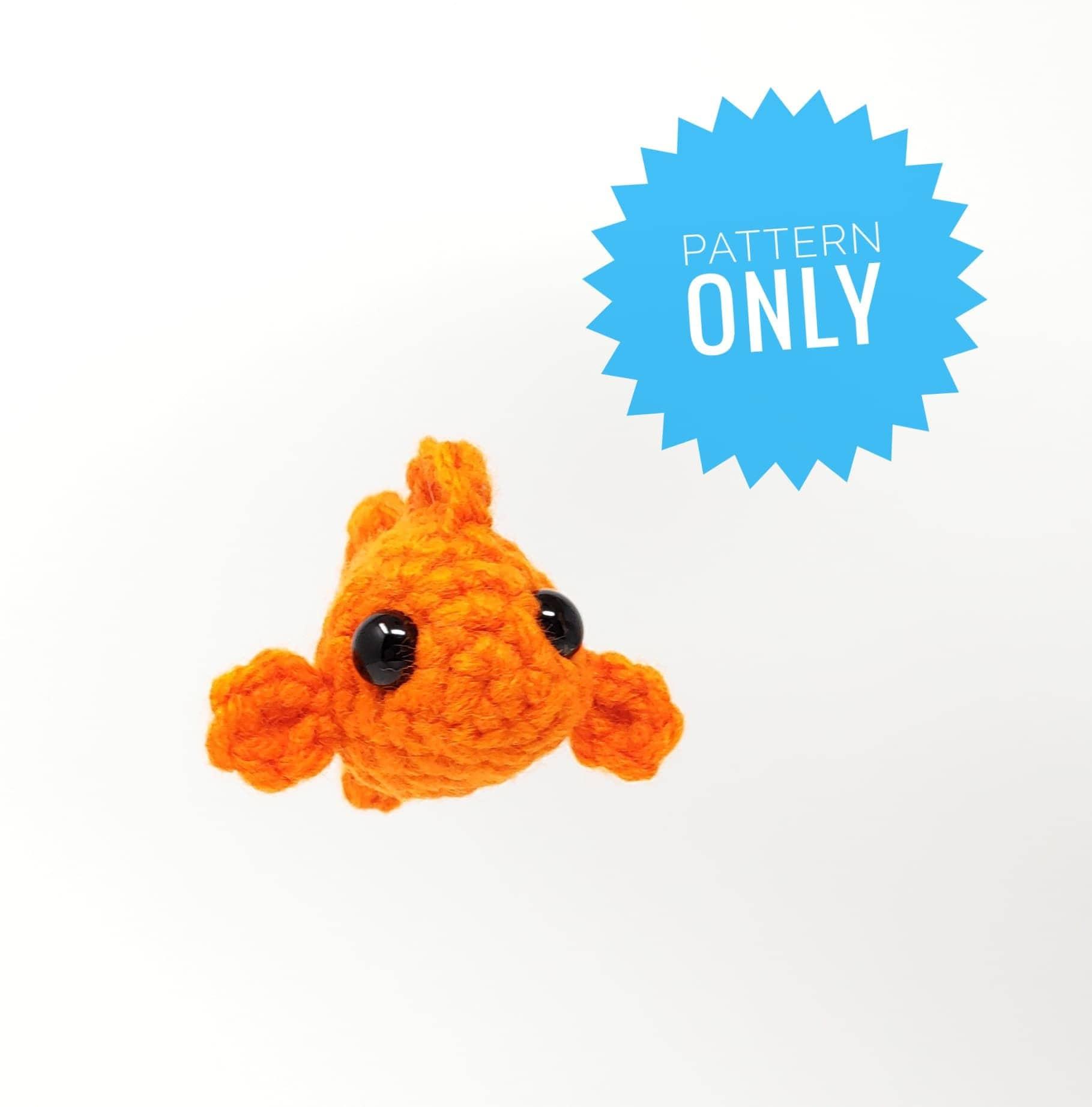 Glenda The Goldfish Pattern Amigurumi Pattern Crochet Fish Etsy