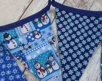 Christmas Bunting, Snowman bunting, festive bunting, Christmas garland, festive garland, snowman garland, Christmas wall hanging, wall decor
