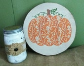 Pumpkin Sign - Fall Sign - Halloween Sign - Wood Sign - Happy Fall Sign - Fall Decor - Pumpkin Decor - Round Sign - FREE SHIPPING