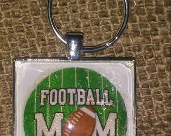 Football Mom Key Ring ~ Football Mom Key Chain ~ Mothers Day Gift ~ Birthday Gift ~ Christmas Gift