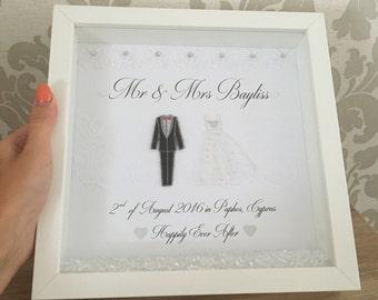 Cadre de mariage personnalisé, cadre de mariage cadeau mariage, cadeau de mariage