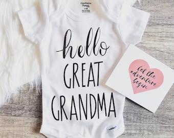 Great Grandma Onesie Etsy
