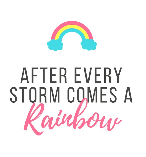 After Every Storm Comes A Rainbow Card Pregnancy | Etsy
