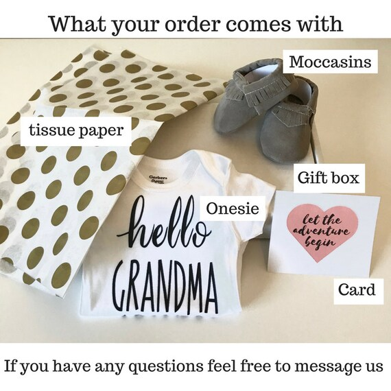 Guess What Pregnancy Announcement to husband Onesie\u00ae  Gift Box Set with moccasins Pregnancy Reveal New Baby  Mother/'s Day Gifts