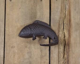 Large Cast Iron Fish-Shaped Hook