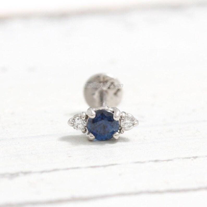 5cf0e1a2e5976b 0.1ct Genuine Blue Sapphire with Tiny Diamonds Solid Gold | Etsy