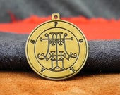 Governor Foras - Lesser Key of Solomon amulet, sigil necklace, Lemegeton, occult jewelry, ritual