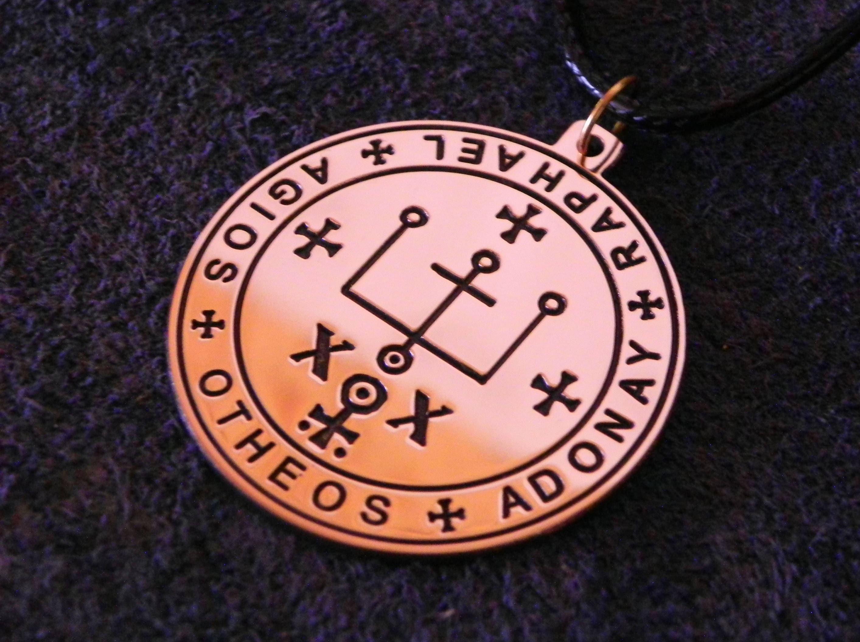 Seal of Archangel Raphael pendant It is God who heals Angelic protection