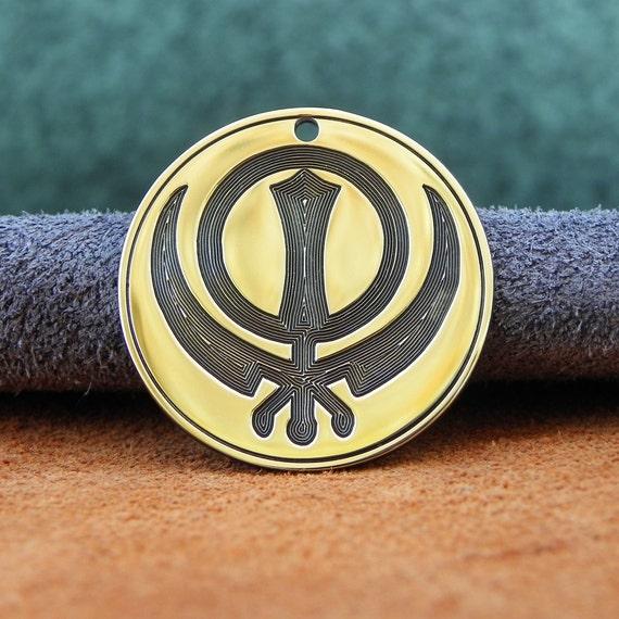 Sikhism Symbol Sikh Khanda Pendant Etsy