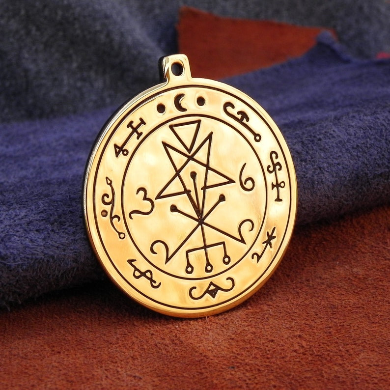 Seal Of Lilith Pendant Lemegeton ritual talisman sigil necklace amulet occult charm