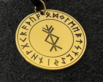 "Runic Magic Talisman ""Prosperity"" , Viking Amulet"