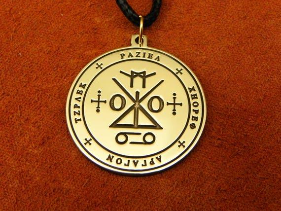 Seal Of Angel Raziel Pendant Seal Of Archangel Raziel Etsy