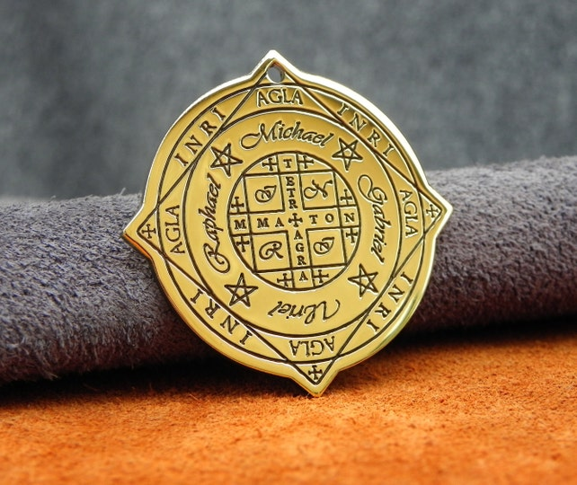 Seal Wheel Of Fortune Agla And Protection Of The Archangels Etsy