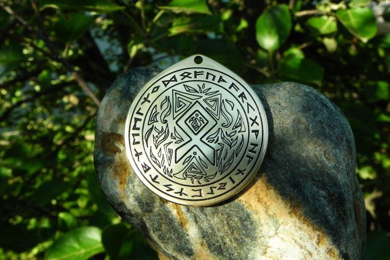 Othila rune talisman Viking necklace nordic necklace Rune pendant
