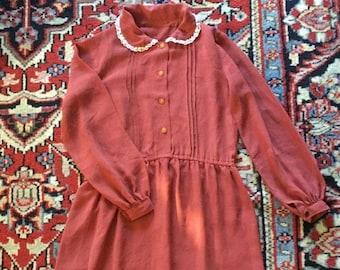 Vintage Rust Dress