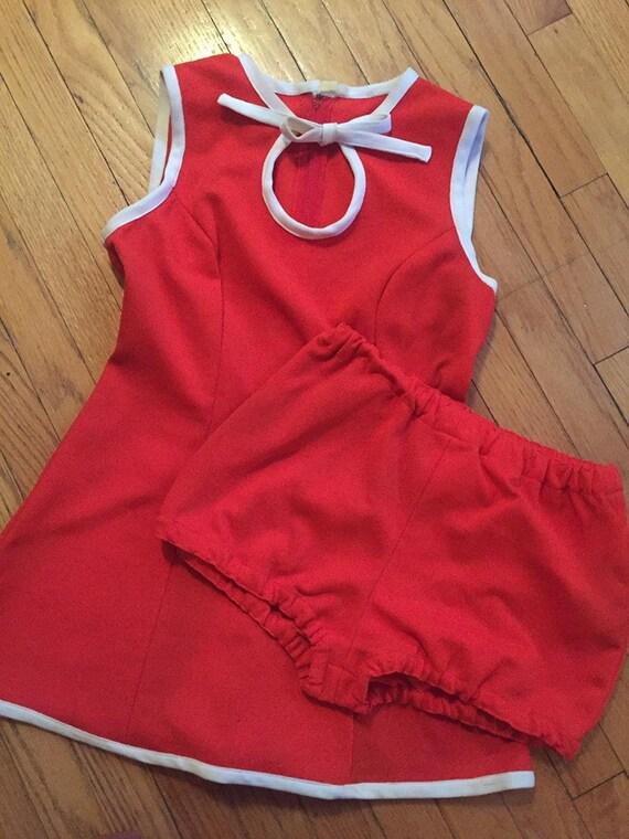 Vintage Dance Costume - Cheerleader/Majorette/Bato