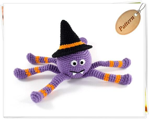 Crochet Amigurumi Spider Patter, Crochet Halloween Spider PDF, Spider PDF Crochet Pattern, Crochet Halloween Pattern, DIY Halloween Decor