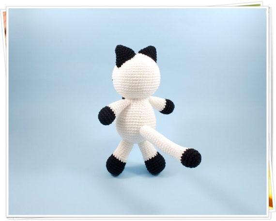 Crochet pattern amigurumi white cat, Amigurumi cat pattern, Easy ... | 456x570