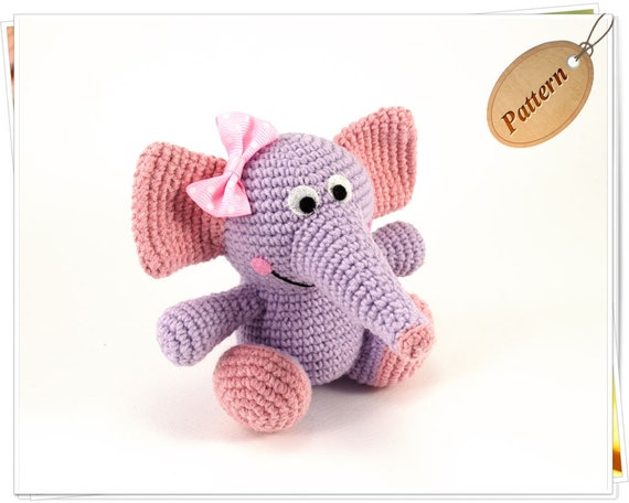 Baby Knitting Patterns Baby Elephant-Instant Download Crochet ... | 456x570