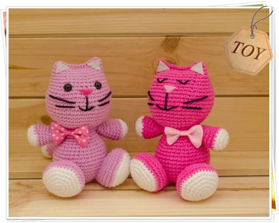 Katze Amigurumi Häkeln Häkeln Rosa Katze Häkeln Rosa Kitty Etsy