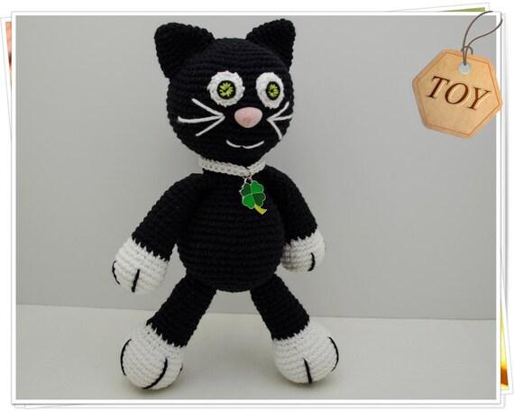 Schwarzen Katze Häkeln Amigurumi Schwarze Katze Häkeln Etsy