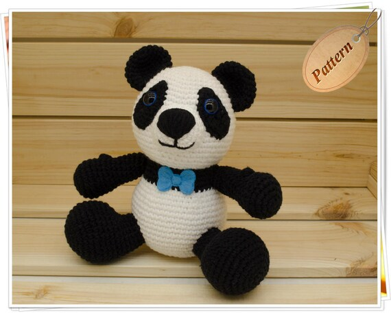 Pineapple Panda crochet pattern - Amigurumi Today | 456x570
