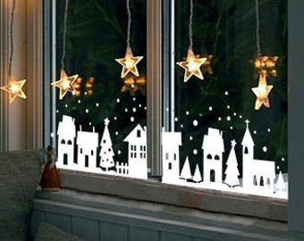 Christmas window | Etsy