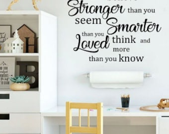 You Are Braver Than You Believe Pooh Quote Decal Wall Decal