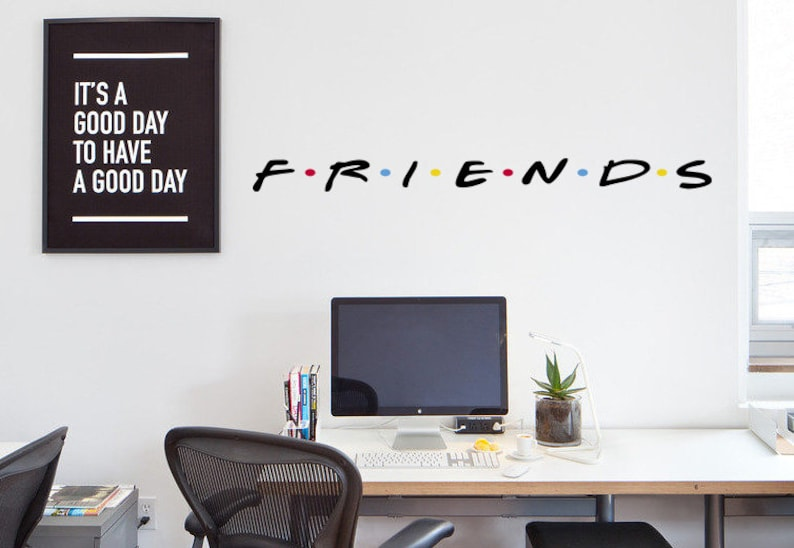 friends decal friends tv show wall decal laptop friends | etsy