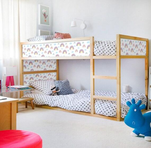 Ikea Kura Bed Decals Girls Stickers Rainbow Etsy