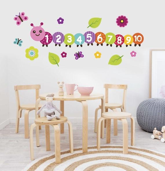 counting caterpillar decal preschool classroom decor etsy