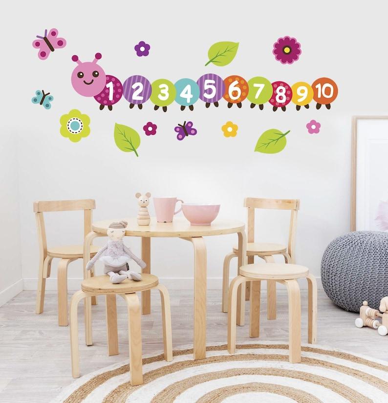 a9a44edb6 Counting caterpillar decal Preschool classroom decor | Etsy