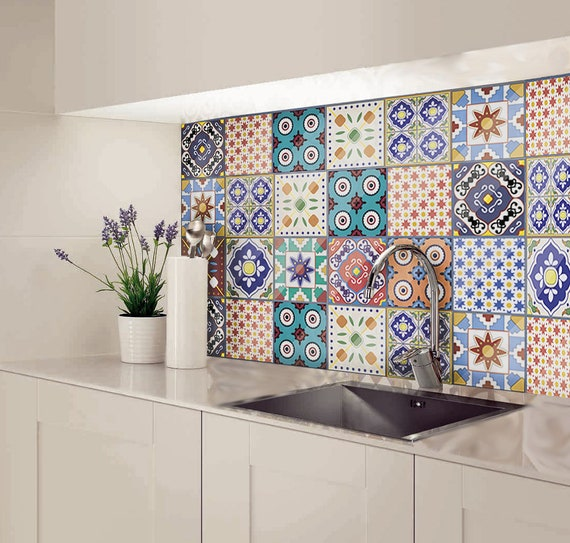 Six Splashback Looks We Love: Kitchen Splashback Splashback Tiles Moroccan Tile Decal