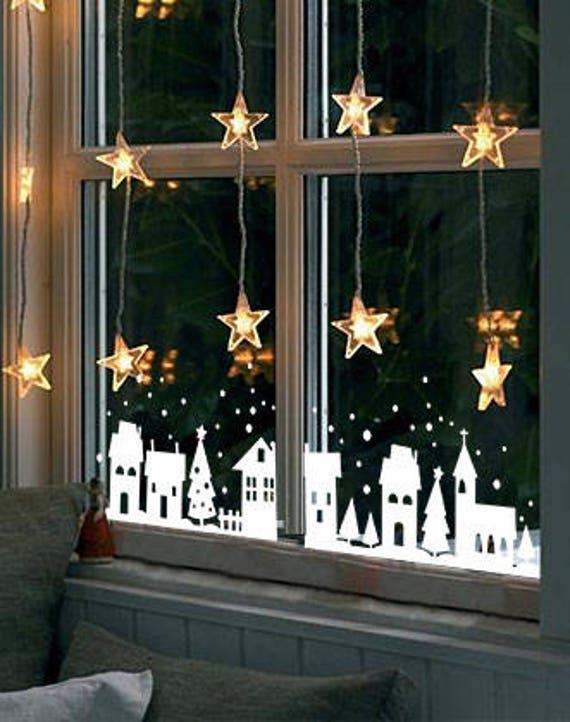 Christmas Decoration Christmas Window Decal Window | Etsy