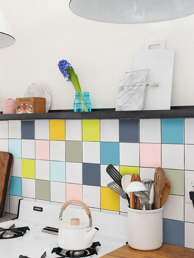 Küche Fliesen Aufkleber Vinyl-Fliesen Fliesen Aufkleber | Etsy