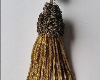Antique French Gold Bullion Tassel