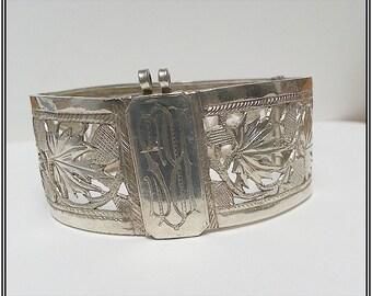 Antique Silver Victorian bangle