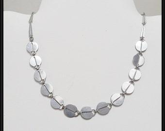 Vintage Jakob Bengel chrome necklace