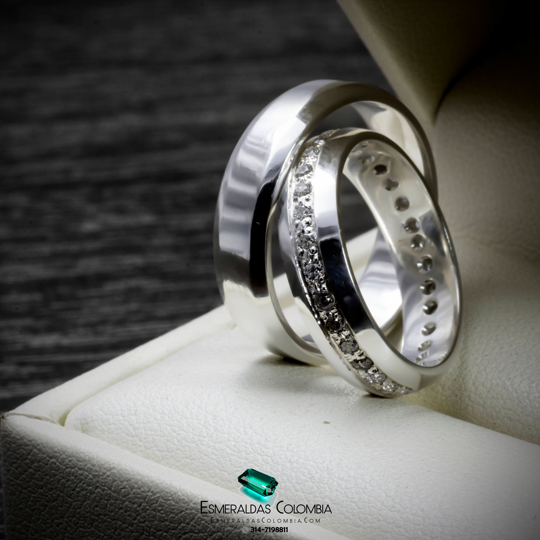 4ef33f00b53e Argollas Matrimonio Oro 18k o Plata con Aro de Diamantes