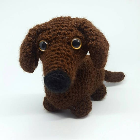 Amigurumi crochet pattern English Manu the dachshund sausage dog ... | 570x570
