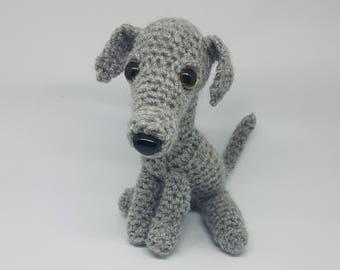 Handmade Crochet Whippet Plush (available in custom colours)
