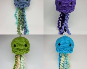 Handmade crochet jellyfish