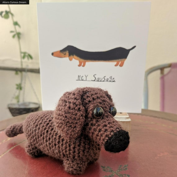 Dachshund Sausage Dog Plush With Gift Card Gifts Lovers