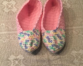 Hand-crocheted children's slippers